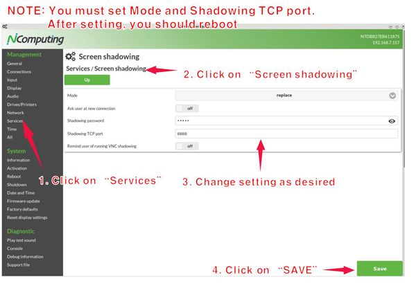 Shadowing - NComputing Knowledge Base